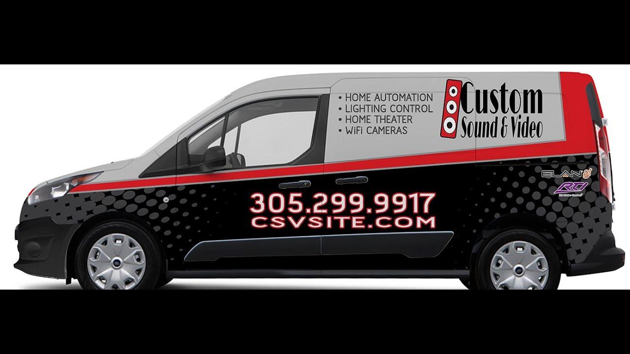 Miami Florida Ford Transit Connect Van Vinyl Car Wrap