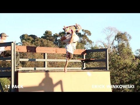 12 Pack: Erick Winkowski   TW SKATEboarding video ramp action