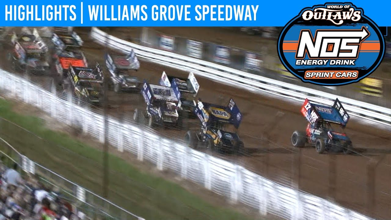 World of Outlaws NOS Energy Drink Sprint Cars Williams Grove Speedway, July  27th, 2019 | HIGHLIGHTS