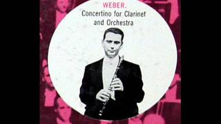 Weber / Anthony Gigliotti, 1952: Concertino for Clarinet and Orchestra, Op. 26