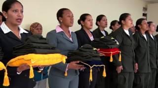 76 mujeres iniciaron hoy su formación para convertirse en Policías Nacionales en Cuenca