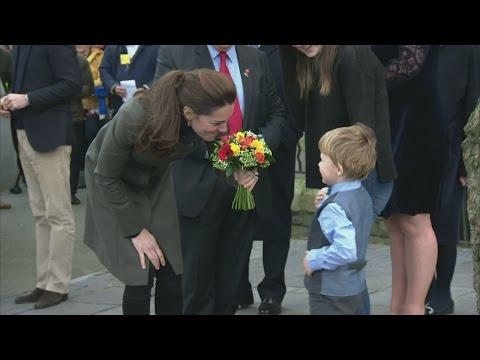 Kate and Will visit royal town of Caernarfon in North Wales