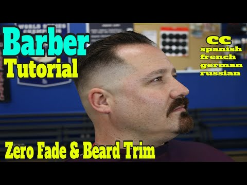 Barber Tutorial / Razor Fade  / Trnasformation Fade & Beard