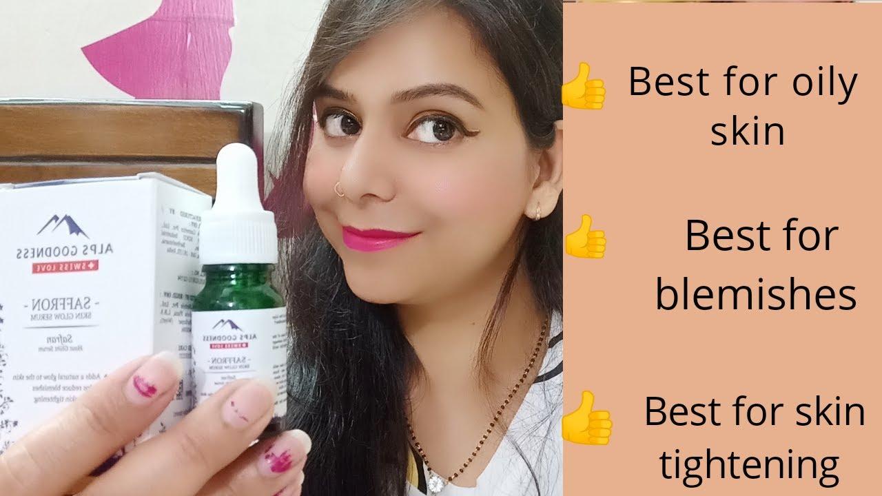 Alps Goodness Saffron Skin Glow Serum Full Review - YouTube
