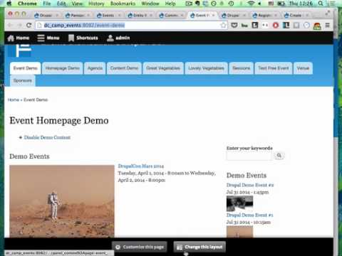 Drupal for Event and Conference Sites @CapitalCampDC (July 2014)