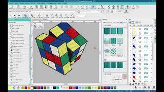 HATCH 012 해치자수프로그램 큐브자수펀칭 동일색상…