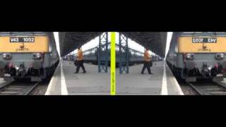 Mirror method 3D movie - Train arriving