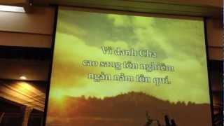 Dâng lên lời tán dương  - Thánh ca- Tin Lành - Karaoke
