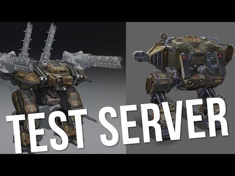 War Robots Test Server - Phantom + Behemoth Gameplay   Live Action Gameplay