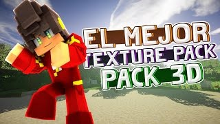 ¡EL MEJOR 3D TEXTURE PACK! 1.8/1.9/1.10