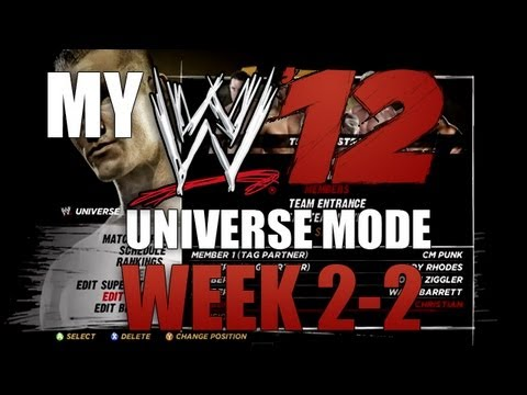 My WWE '12 Universe Mode: Week 2-2 -The Industry