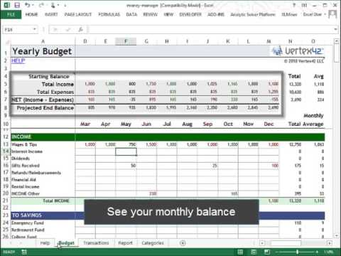 Money Management in Excel - YouTube