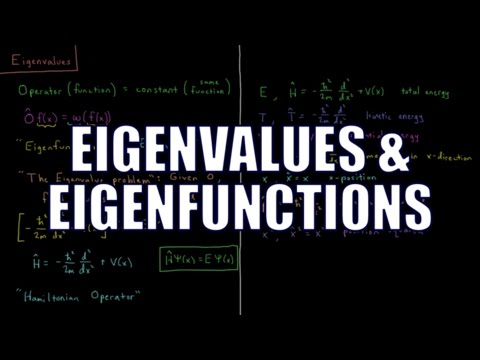Quantum Chemistry 3.3 - Eigenvalues and Eigenfunctions