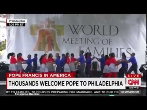 CNN Coverage of Dancing with the Students and Gesu School 9 26 2015 at World Meeting of Families