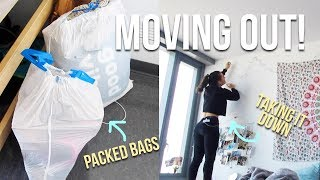 MOVING OUT OF MY DORM!