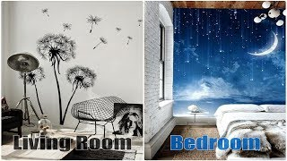 Best Cool Wallpaper Mural Design Ideas Living Room and Bedroom