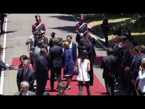 El presidente Mauricio Macri recibió a su par chilena, Michelle Bachelet.