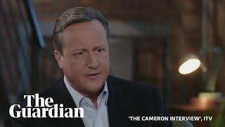 David Cameron on Brexit regrets, Boris Johnson and the expulsion of 21 Tory MPs