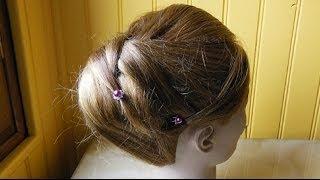 """Chignon """"Elégante coiffure de soirée"""" - Updo """"Elegant evening hairstyle""""-Peinado elegante de tarde"""