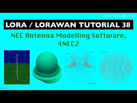 LoRa/LoRaWAN Tutorial 38: NEC Antenna Modelling Software, 4NEC2