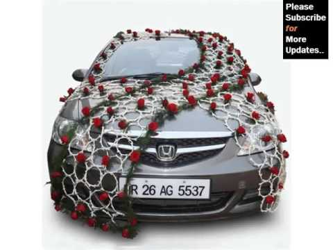 Wedding car decoration back decor pictures ideas for for Automotive decoration