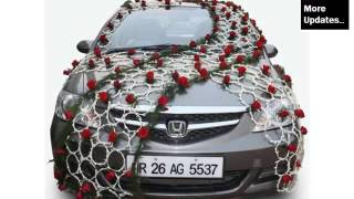 Wedding Car Decoration Back | Decor Pictures Ideas For Vehicle