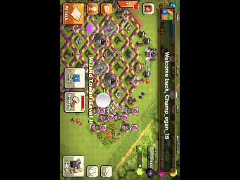 Attacking Kemal in clash of clans