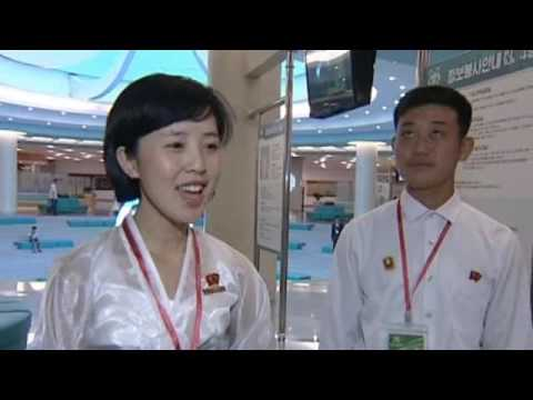 [DPRK Attraction] Participants of Youth League Congress Tour Sci-Tech Complex