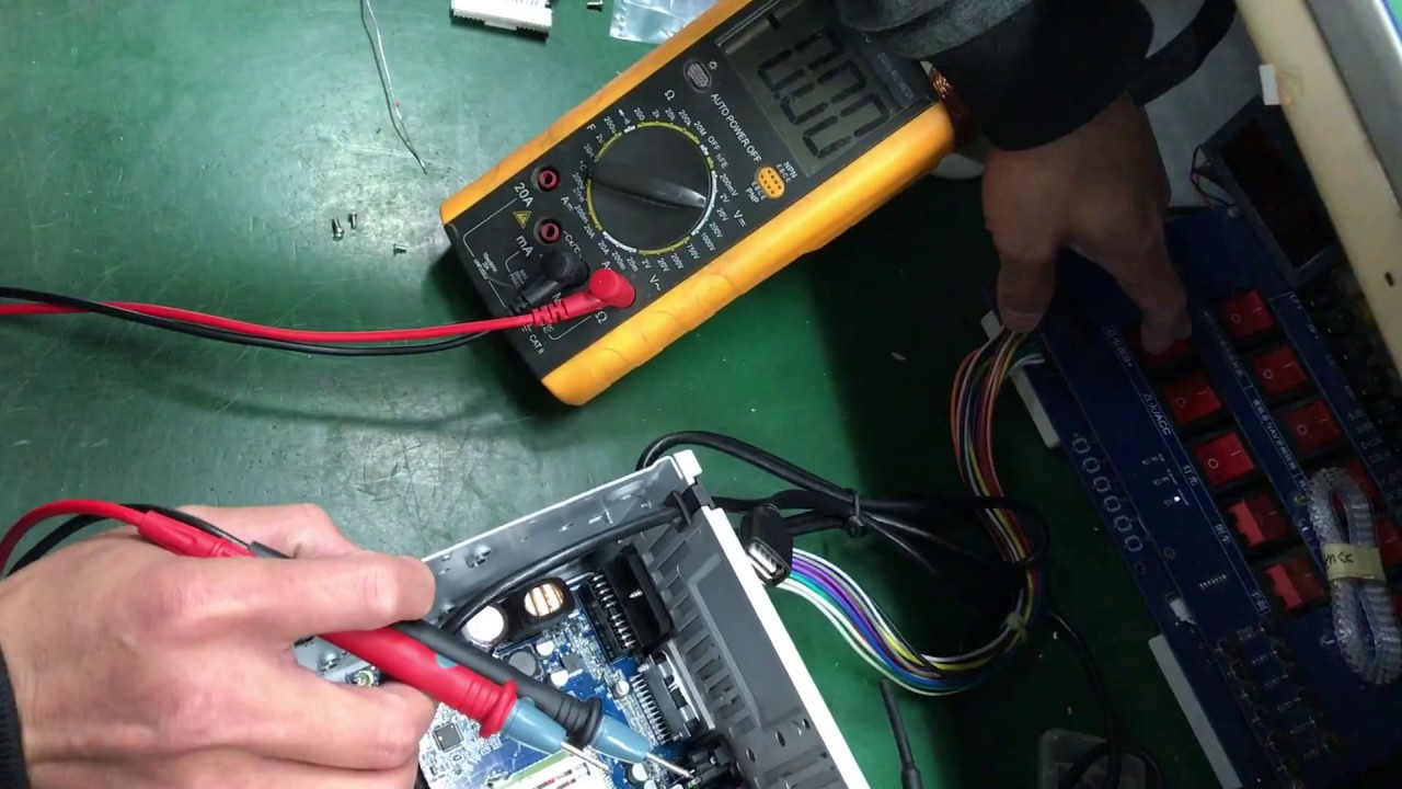 Joying car stereo has no display but touch screen work solved by soldering  tin