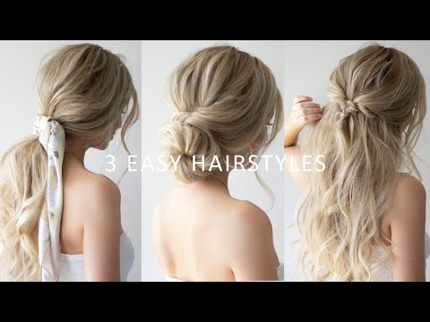 HOW TO: 3 EASY HAIRSTYLES ? SPRING HAIRSTYLES 2019 thumbnail