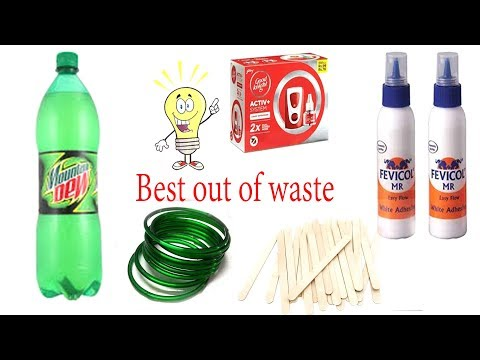 6 Useful craft from waste material | 6 best out of waste materials craft idea | Tuber Tip