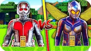 ¡CASA DE ANT-MAN VS CASA DE AVISPA EN MINECRAFT!