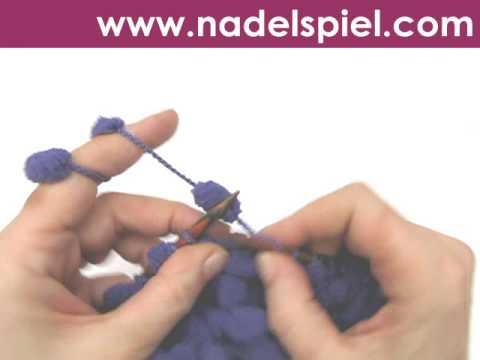 Stricken Lernen Pomponwolle Maschenanschlag Gitter Stricken
