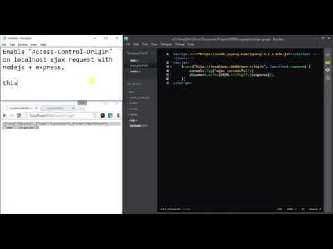 "Solving ""Access-Control-Allow-Origin"" in localhost NodeJS + Express"