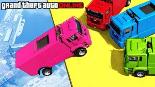 GTA 5: Online - Epic Cargo Plane Stunt & Sumo Pit (Funny Moments & Fails)