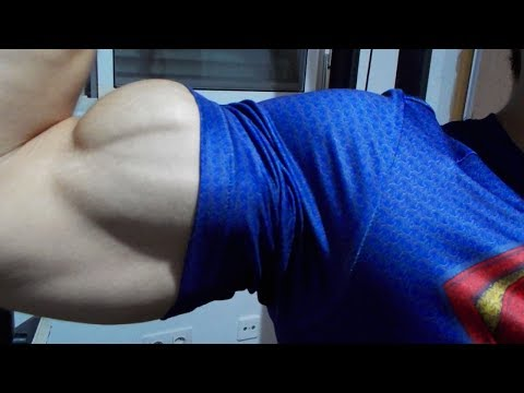 Chest Workout and Flexing Biceps
