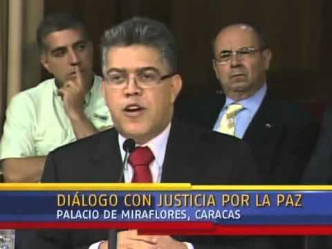 Diálogo Maduro-Oposición: Palabras de Elías Jaua
