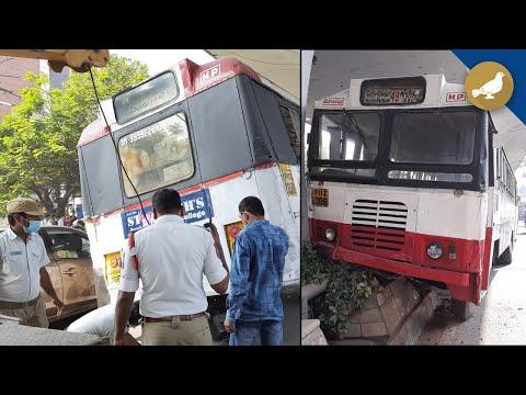 TSRTC Bus hits