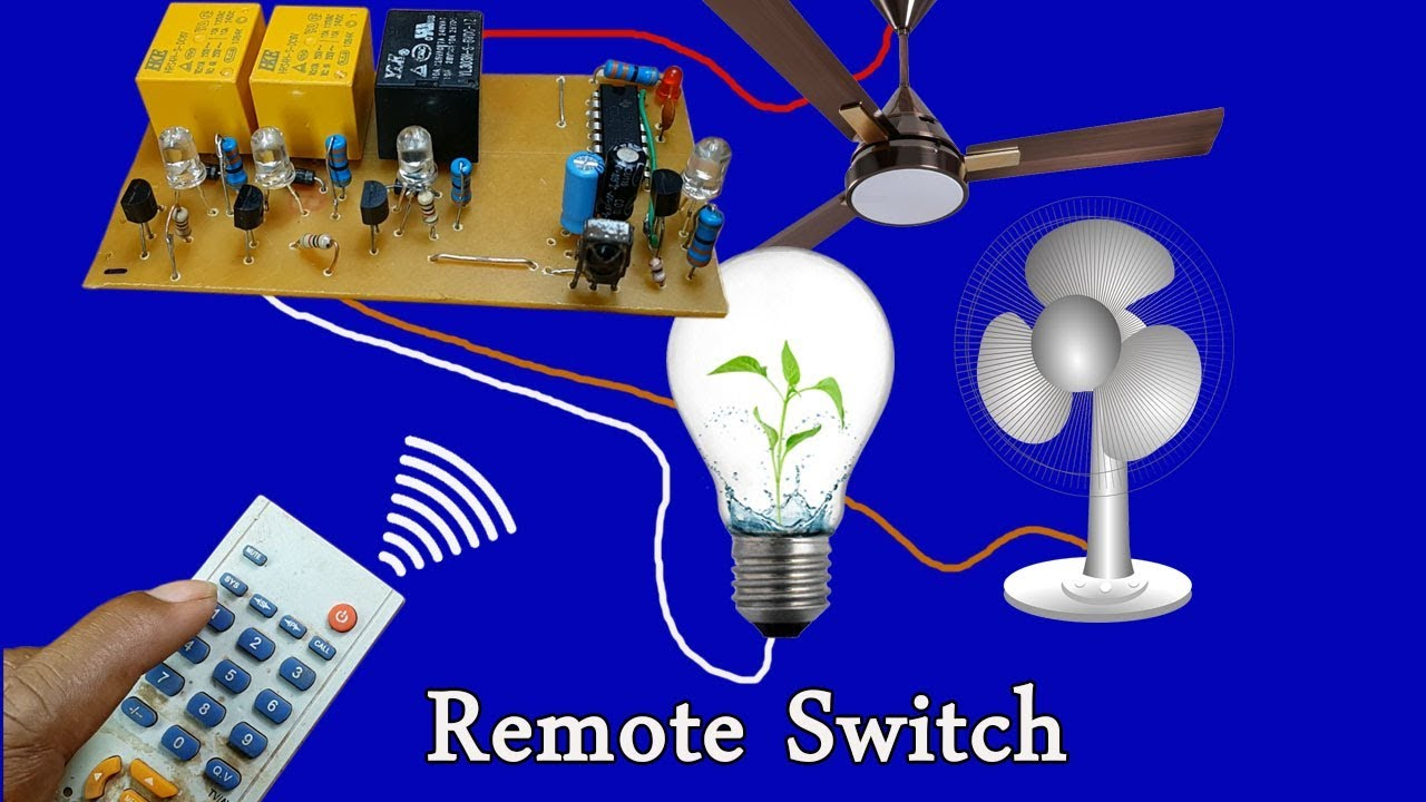 How To Make Light And Fan Switch Remote Circuit By Ic