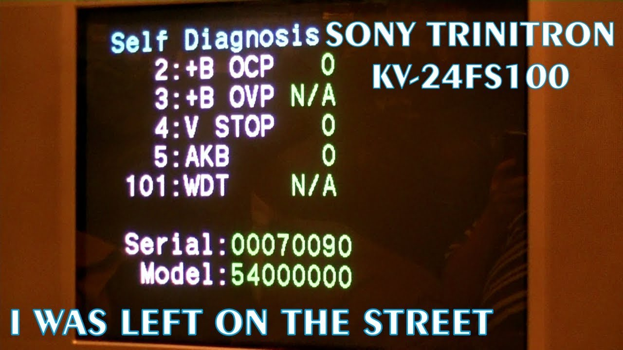 Trash Picked Sony Trinitron KV-24FS100