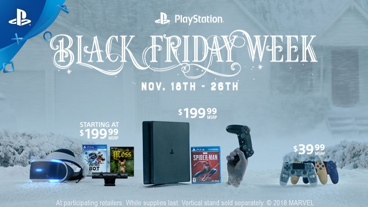 Carte Psn Black Friday.Playstation Black Friday Sale Includes 200 Spider Man Ps4
