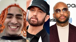 "Lil Pump Disses Eminem... ""F**k Eminem You're Old Nobody Listens To You"" + Royce Da 5'9 Responds"