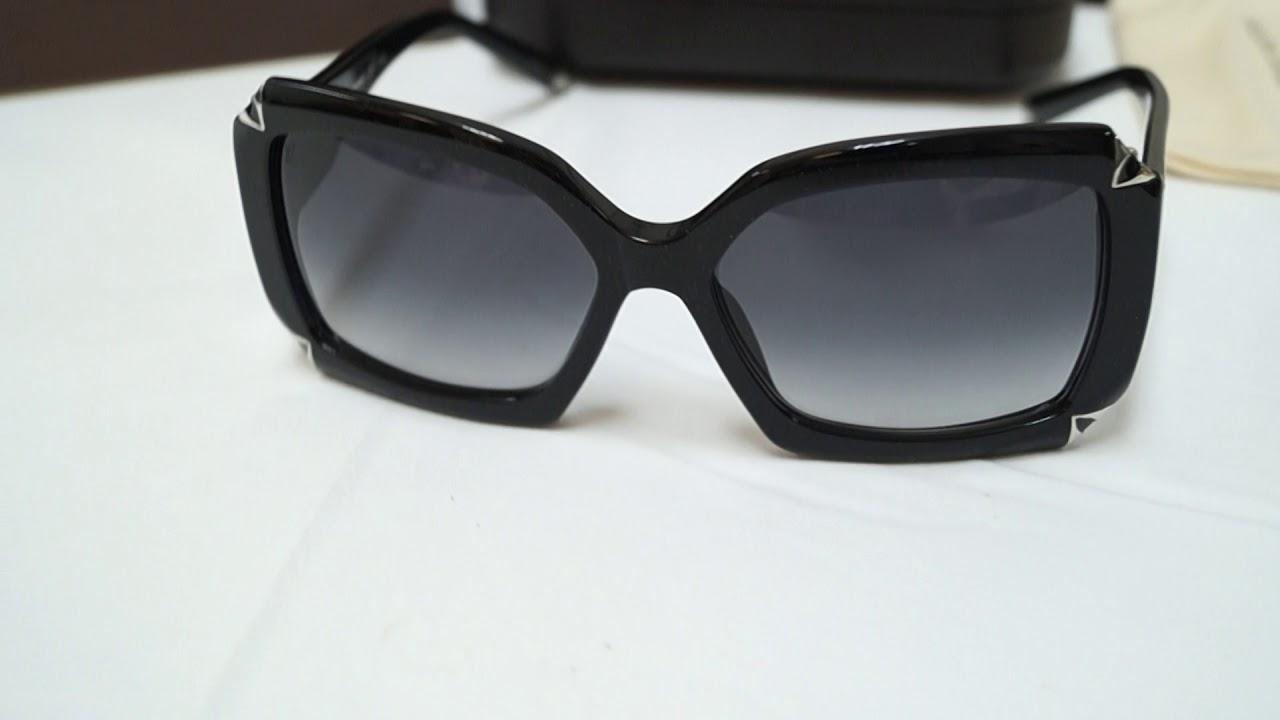 f6da645c7a27 LOUIS VUITTON Hortensia Sunglasses Black E5218 - YouTube