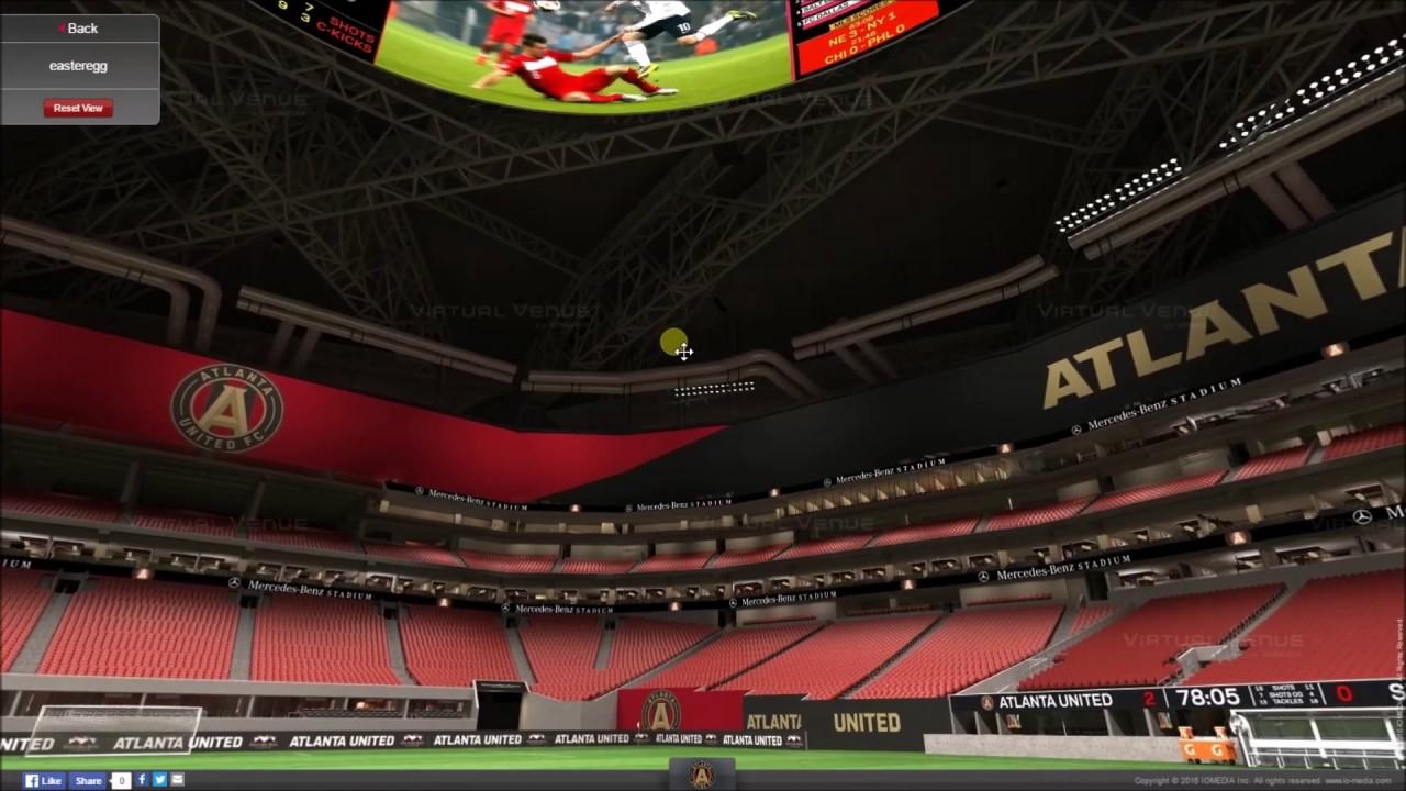 Mercedes Benz Arena Atlanta >> VirtualStadiumTour (MLS & NFL) - Mercedes-Benz Stadium (Atlanta United FC & Falcons) - YouTube