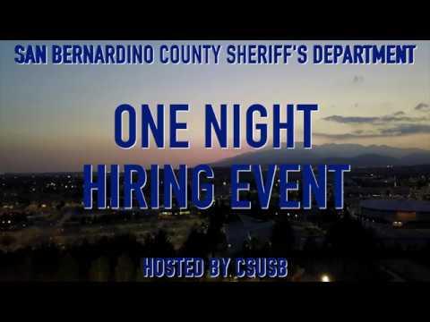 CSUSB ONE NIGHT HIRING EVENT 2018