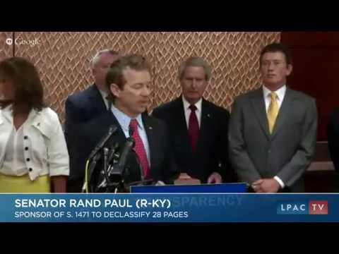 Rand Paul Calls for the Release of 9/11 Classified Commisions Report