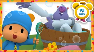 🦷 POCOYO in ENGLISH - Personal hygiene for kids [95 min] | Full Episodes |VIDEOS & CARTOONS for KIDS