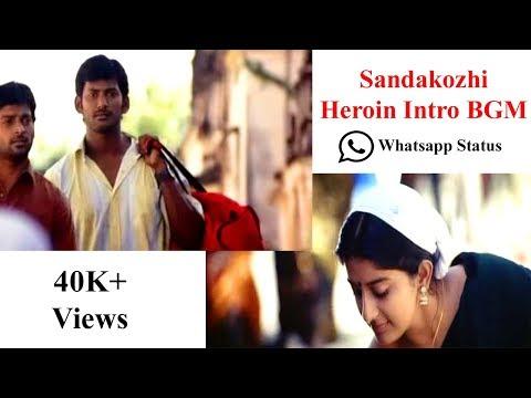 Sandakozhi Heroine Intro BGM   Yuvan    Vishal,Meera Jasmine   WhatsApp Status