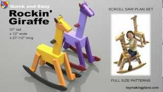 Wood Toy Plans - Rocking Giraffe
