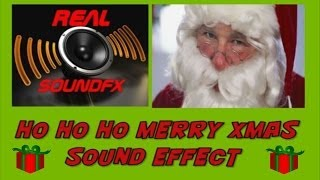 HO HO HO merry christmas SANTA CLAUS sound effect #2 - realsoundFX